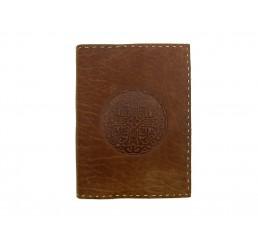 Lederbuch Blog Mandala Choco - XL - Tagebuch Notizbuch Büffelleder