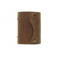 Pocket Wave Browny - Lederbuch DIN A7 - 400 Seiten