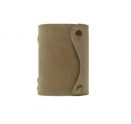 Pocket Wave Stony - Lederbuch DIN A7 - 400 Seiten