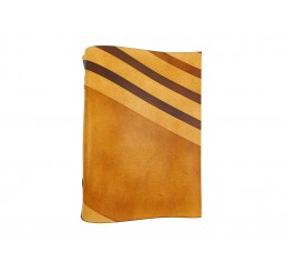 soft OX RAW Honey Stripes - Lederbuch - DIN A5