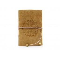 Lederbuch Travel Memory Mandala Caramel - A6