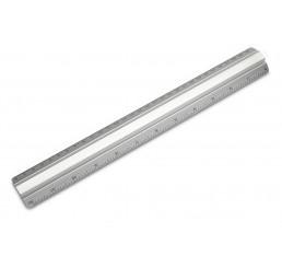 Lineal in Aluminium mit Griffschiene 30 Zentimeter 12 Zoll (inch)