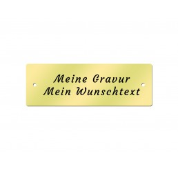 Messingschild 60 x 20 mm - Inklusive Gravur - Gelocht