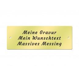Messingschild 70 x 25 mm - Inklusive Gravur - Gelocht