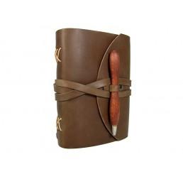 OX Pen Browny - Lederbuch DIN A5 - 400 Seiten