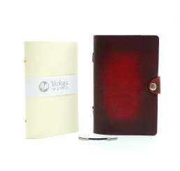 Notizbuch Leder 4EVER OX Spot Bloody Antique Nachfüllbar