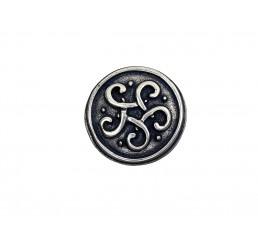 Zier-Niete - Motiv Keltischer Knoten - Altsilber
