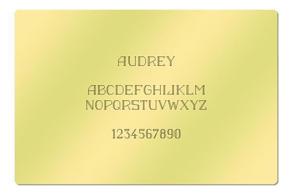 Gravur Schriftart - Audrey