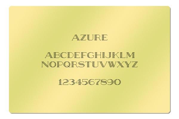 Gravur Schriftart - Azure
