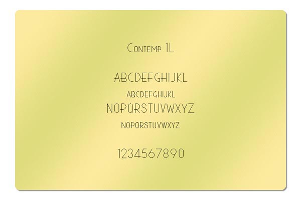 Gravur Schriftart - Contemp 1L