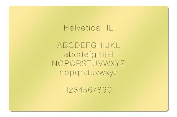 Gravur Schriftart - Helvetica 1L