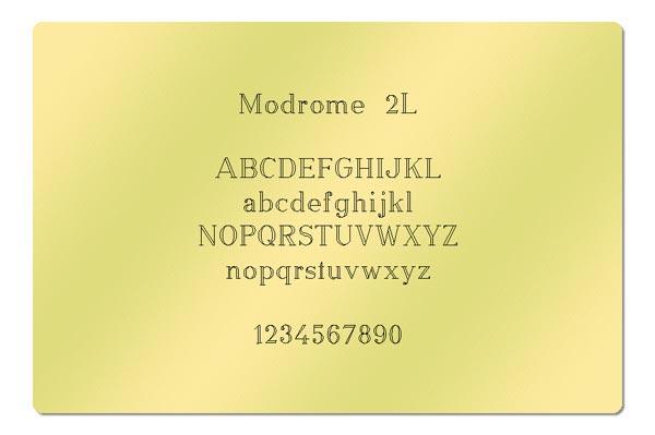 Gravur Schriftart - Modrome 2L