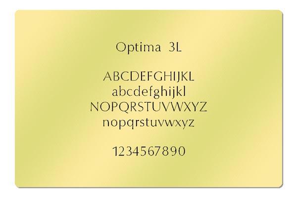 Gravur Schriftart - Optima 3L