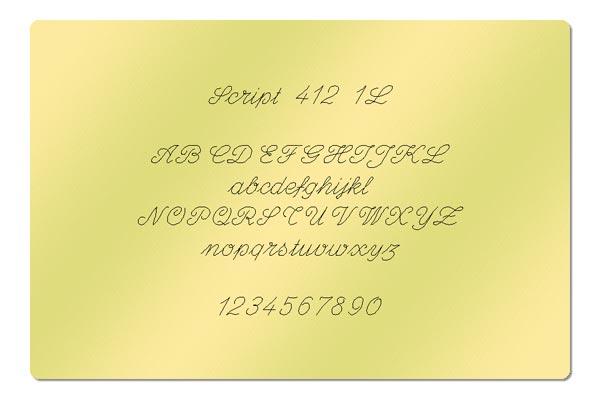 Gravur Schriftart - Script 412 1L