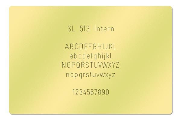 Gravur Schriftart - SL 513 Intern