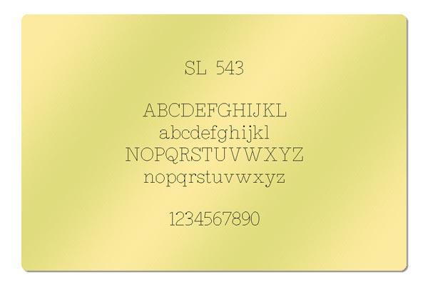 Gravur Schriftart - SL 543