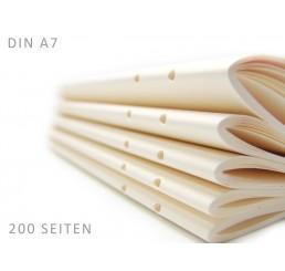 Buchblock DIN A7 - 200 Seiten Inklusive Bindung