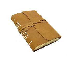 Lederbuch Beach Choco - XL - Tagebuch Notizbuch Büffelleder