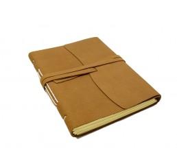 Lederbuch Beach Choco - XXL - Tagebuch Notizbuch Büffelleder