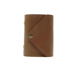Pocket Letter Browny - Lederbuch DIN A7 - 400 Seiten