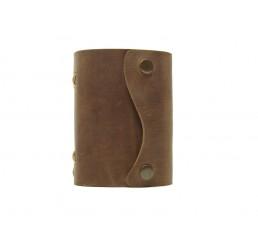 Pocket Wave Browny - Lederbuch DIN A7 - 400 Seiten