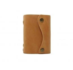 Pocket Wave Honey - Lederbuch DIN A7 - 400 Seiten