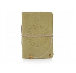 Lederbuch Travel Memory Celtic Birds Nature - A6