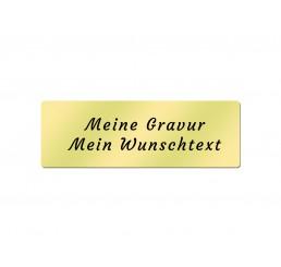 Messingschild 60 x 20 mm - Inklusive Gravur - Selbstklebend