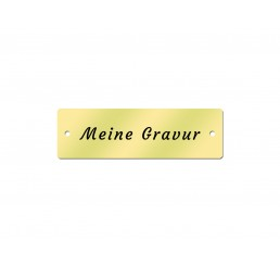 Messingschild 50 x 15 mm - Inklusive Gravur - Gelocht