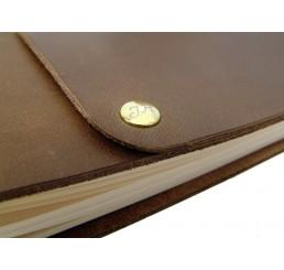 Monogramm Niete 9 mm - Inklusive Gravur - Gold