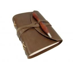 OX Pen Browny - Lederbuch DIN A6 - 400 Seiten