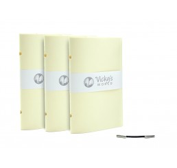 3er Set Ersatz Buchblock 4EVER Notizbuch inkl. Gum-Clip
