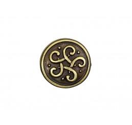 Zier-Niete - Motiv Keltischer Knoten - Altmessing