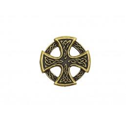 Zier-Niete - Motiv Keltisches Kreuz - Altmessing