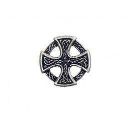 Zier-Niete - Motiv Keltisches Kreuz - Altsilber