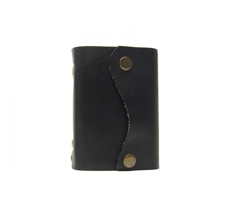 Notizbuch DIN A7-400 Seiten Lederbuch Pocket Wave Blacky 2014.A7.400.60