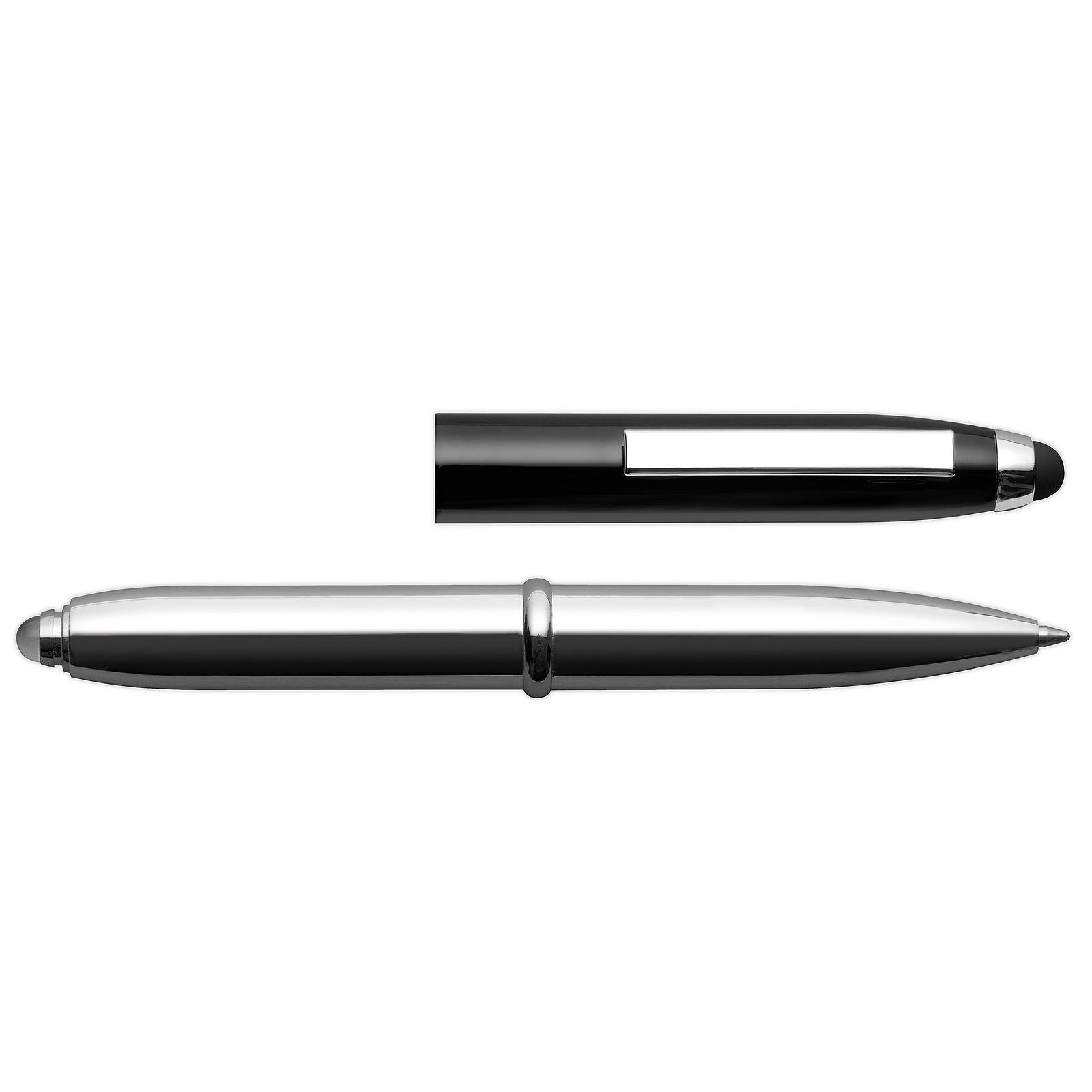 Kugelschreiber mit Soft-Touch-Spitze und LED Lampe - Moon Black