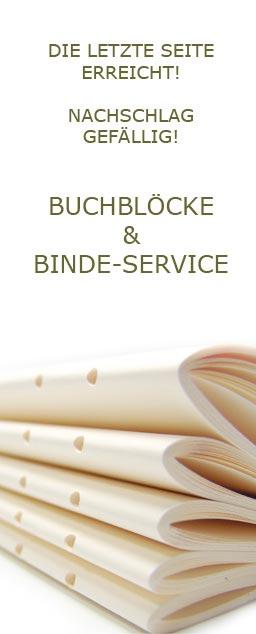 Buchblöcke und Buch Binde Service