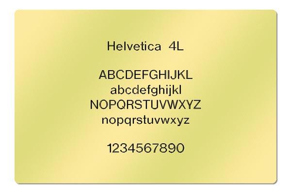 Gravur Schriftart - Helvetica 4L