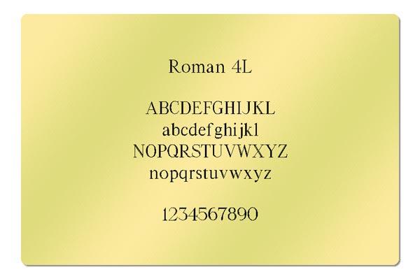 Gravur Schriftart - Roman 4L