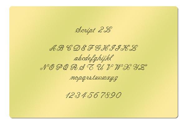 Gravur Schriftart - Script 2L
