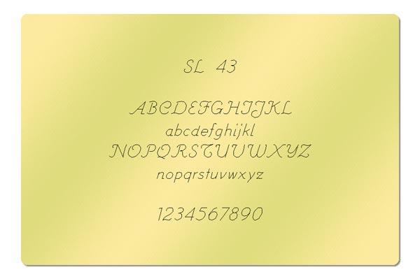 Gravur Schriftart - SL 43