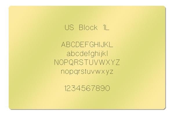 Gravur Schriftart - US Block 1L