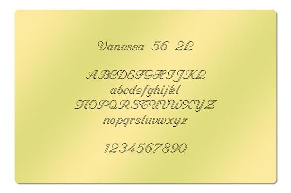 Gravur Schriftart - Vanessa 56 2L